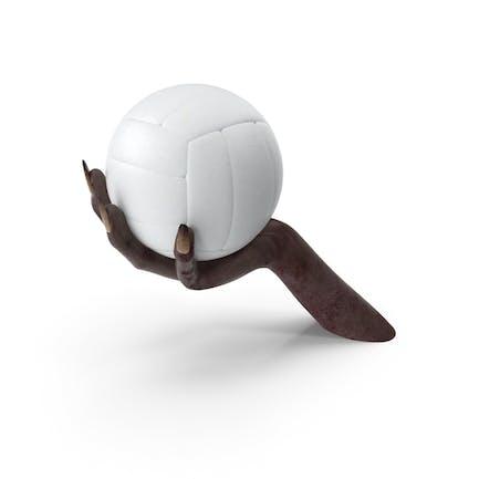 Существо Рука держит волейбольный мяч