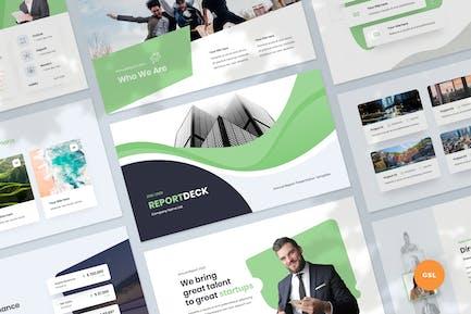 Annual Report Slides Presentation Template