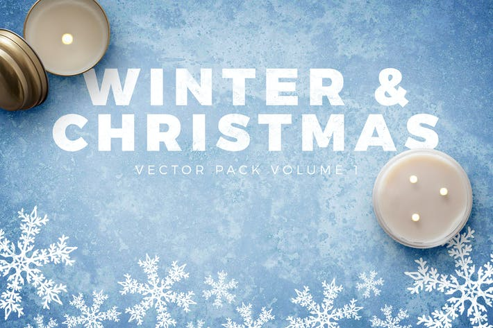 Cover Image For Winter and Christmas Vectors Volume 1