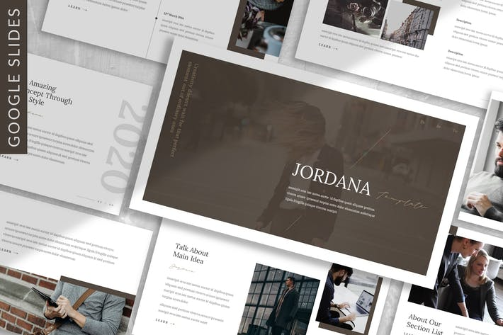 Thumbnail for Jordana - Business Google Slide Template