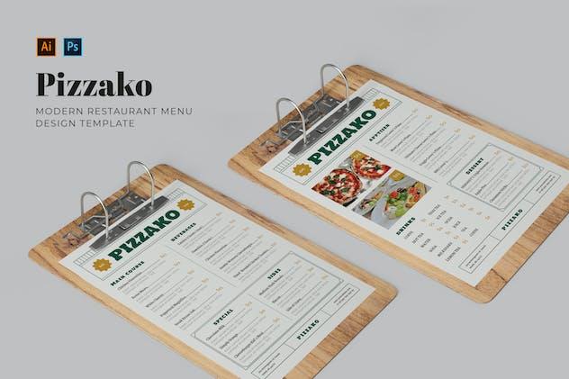 Pizzako Restaurant Menu