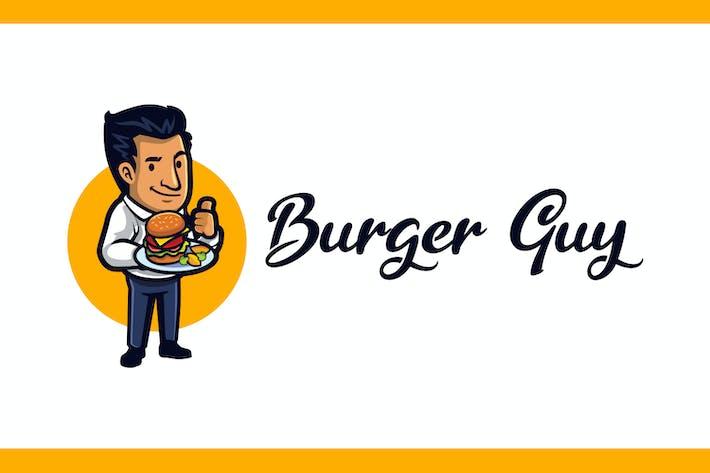 Thumbnail for Cartoon Burger Guy Mascot Logo