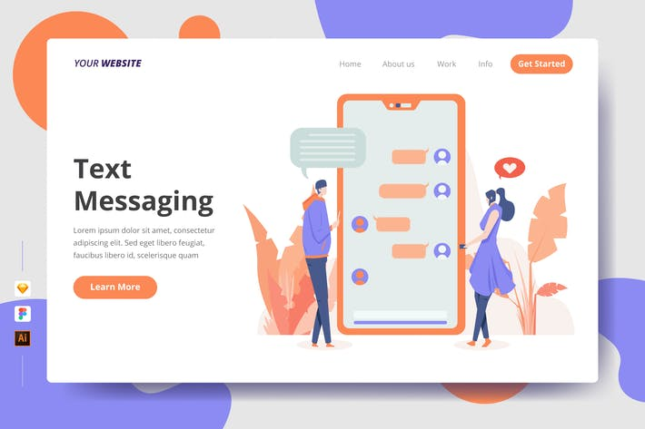 Thumbnail for Text Messaging - Landing Page