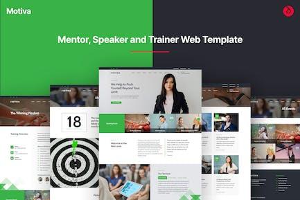 Motiva - Mentor, Coach and Speaker Web Template
