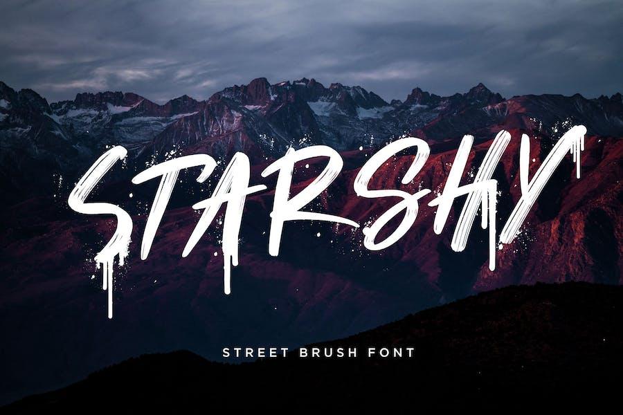 Starshy Street Brush Advertisement Font