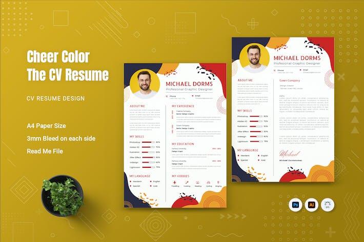 Cheer Color CV Resume