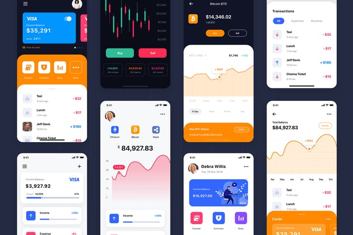 Thumbnail for Куриум - Финансовый UI Kit\_FIGMA