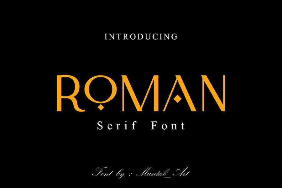 Roman   Fuente Con serifa moderna