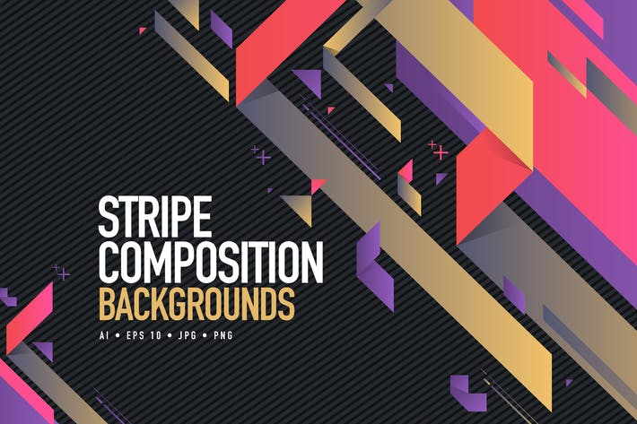 Thumbnail for Abstract Stripe Composition Backgrounds