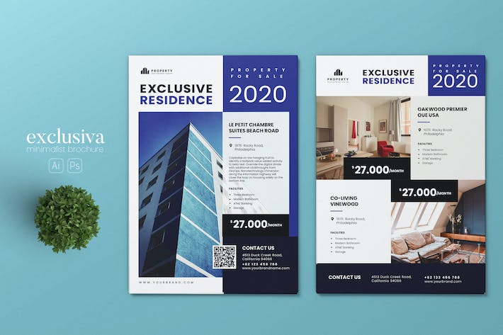 Thumbnail for Minimalist Property AI and PSD Flyer Vol.04
