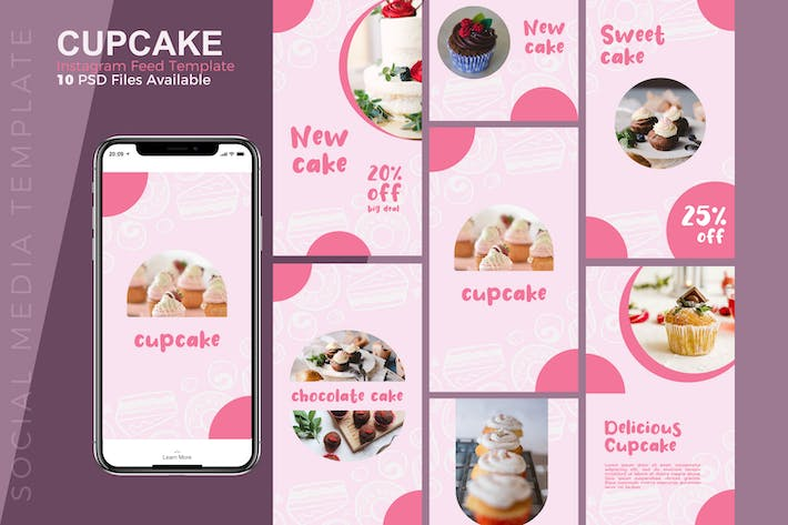 Thumbnail for Cupcake - Food Instagram story Template