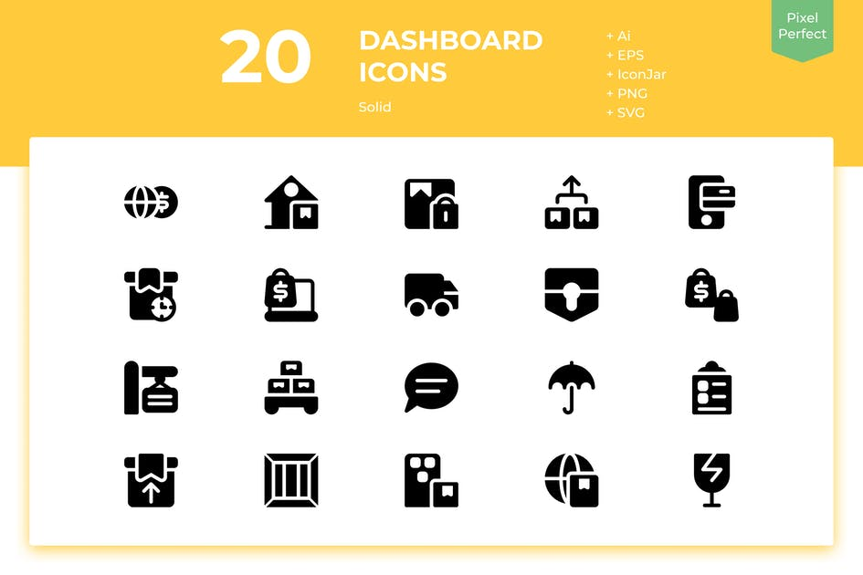 Download 20 Logistic Icons (Solid) by inipagi