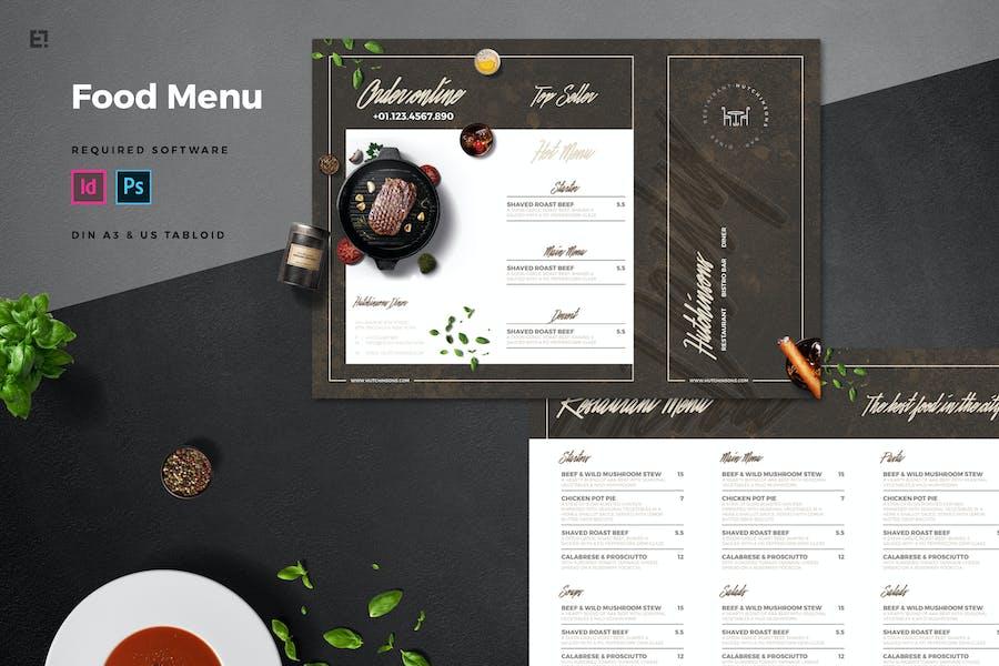 Trifold Restaurant Menu