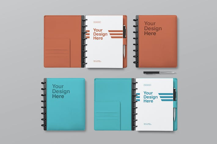 Thumbnail for Notebook Mockups - Top View