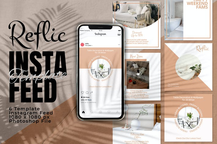 Thumbnail for Reflic Instagram Feed Post Template