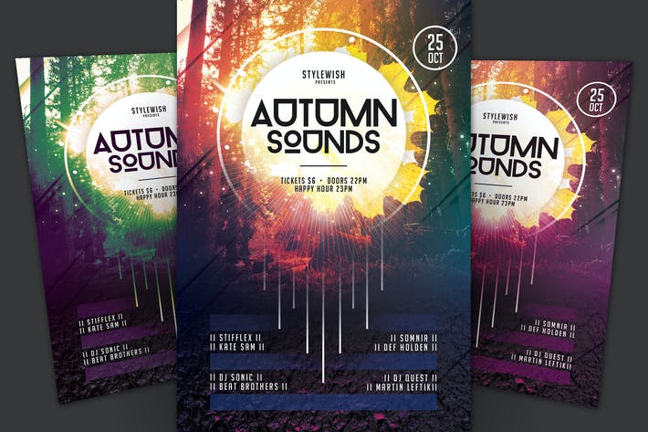 Thumbnail for Autumn Sounds Flyer