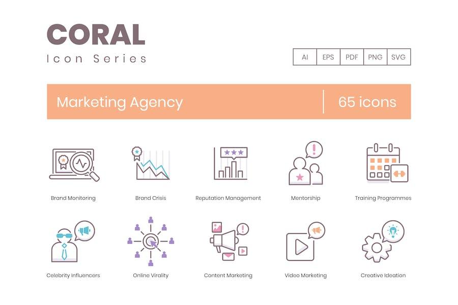 65 LinienIcons der MarketingAgentur