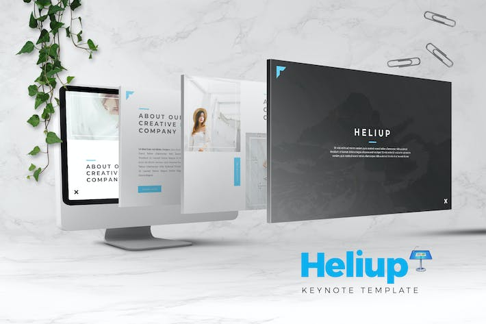 Thumbnail for Heliup - Creative Keynote Template