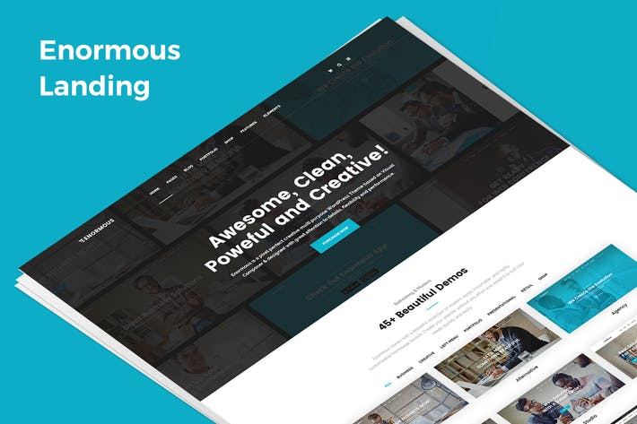 Thumbnail for Enormous Demo Landing PSD Template