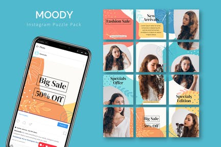 Moody - Instagram Puzzle Template