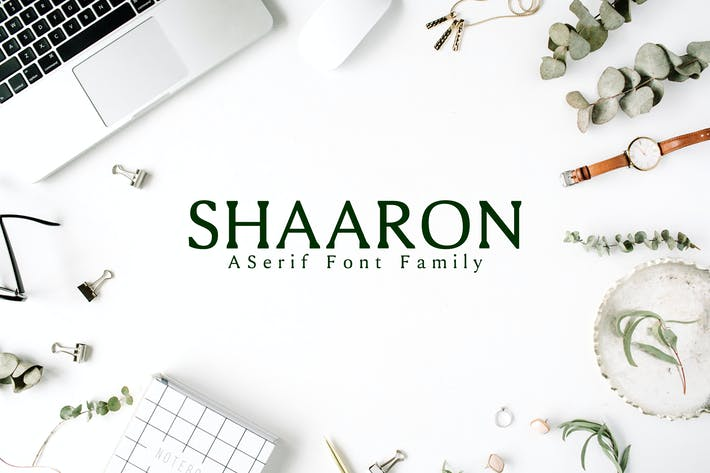 Cover Image For Shaaron A New Serif Font Family