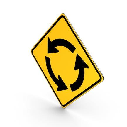 Straßenschild Kreiskreuzung