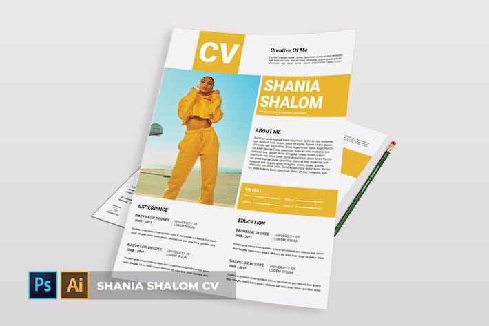 Cover Image For Shania Shalom | CV & Resume