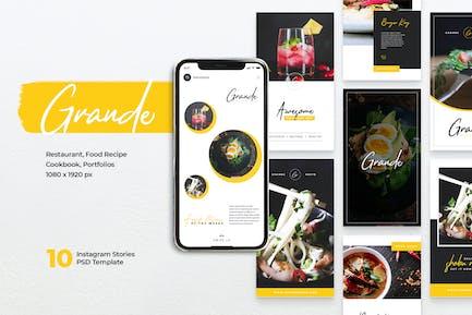 Histoires Instagram GRANDE Restaurant