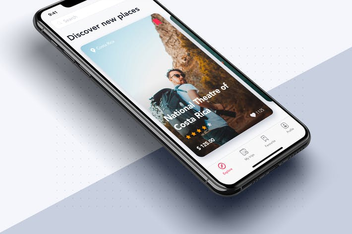 Thumbnail for Discover New Places UI for Travel App