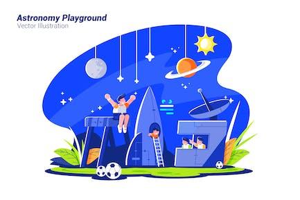 Astronomy Playground - Vector Illustration