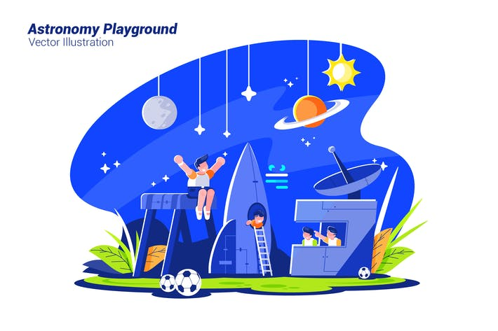 Thumbnail for Astronomy Playground - Vector Illustration