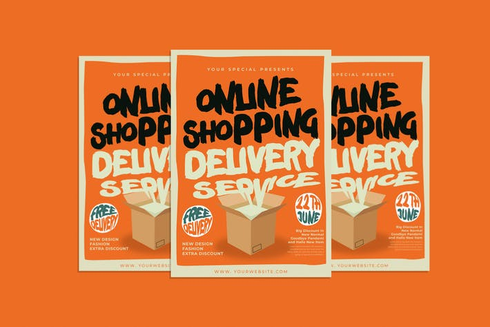 Cover Image For Online Shopping Flyer