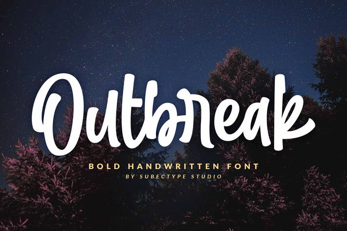 Thumbnail for Outbreak - Urban Handwritten Font