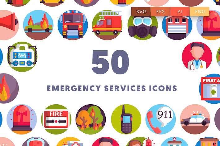Thumbnail for 50 Emergency Services Icons