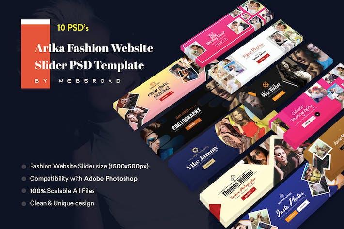 Arika Fashion Website Slider PSD Template