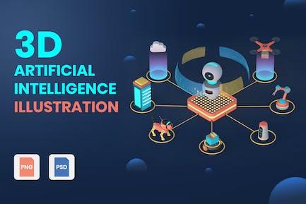 3D Artificial Intelligence Illustrations