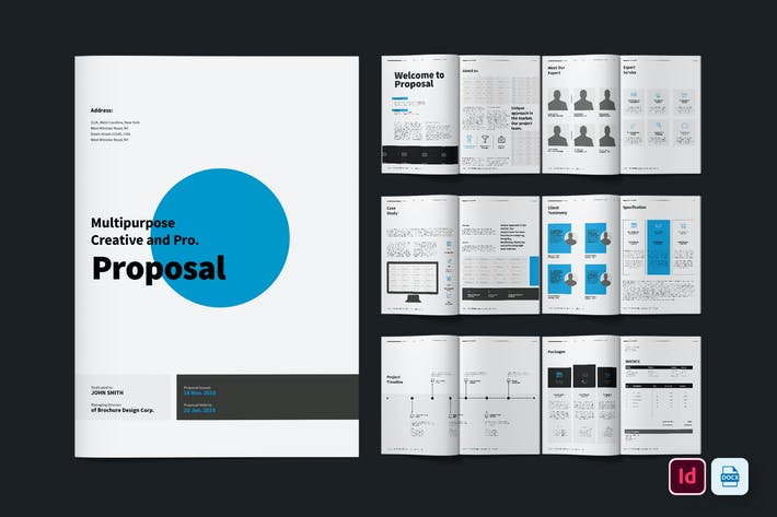 Thumbnail for Professional Brochure Template