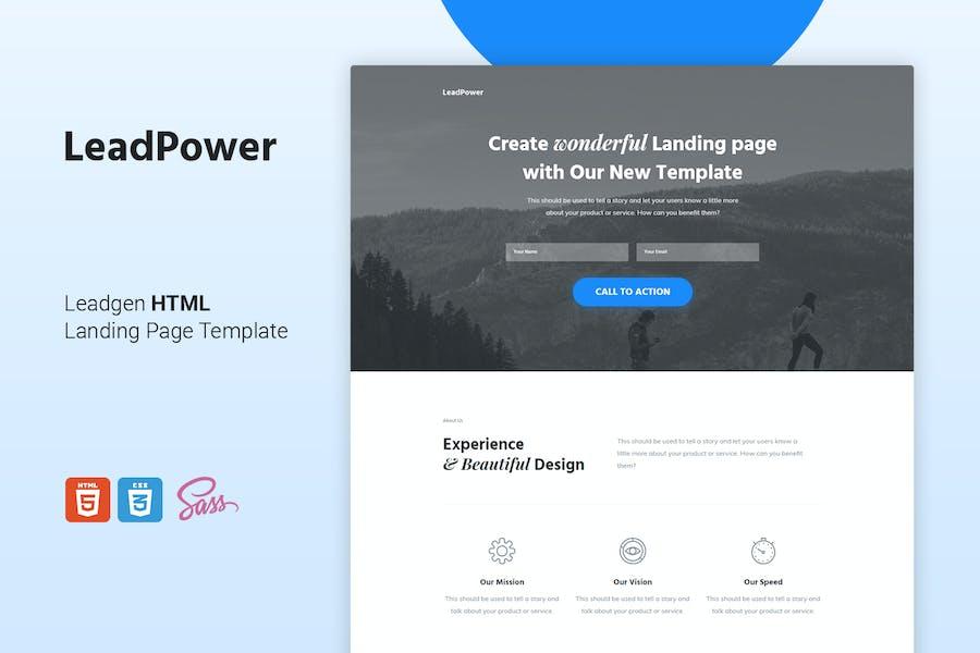 LeadPower - Lead Generation HTML5 Landing Page Tem