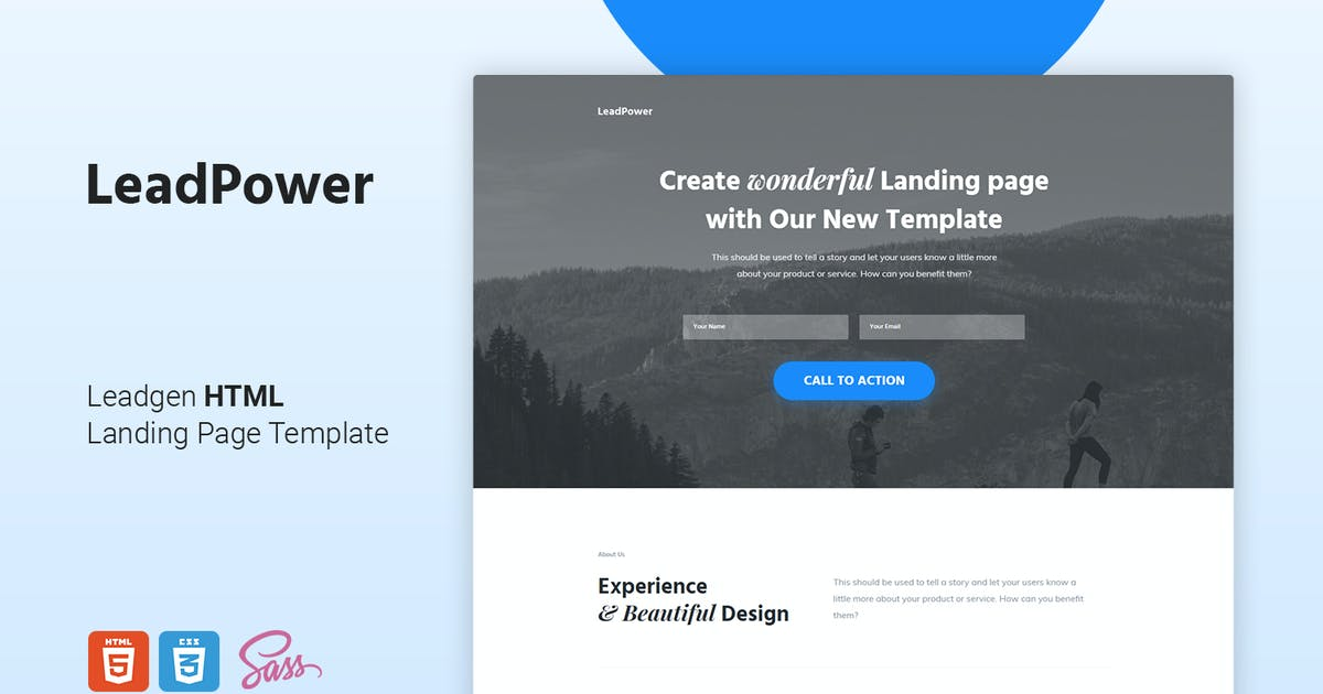 Download LeadPower - Lead Generation HTML5 Landing Page Tem by Morad