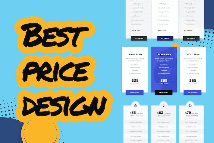 Thumbnail for Business Pricing Table UI Template PSD
