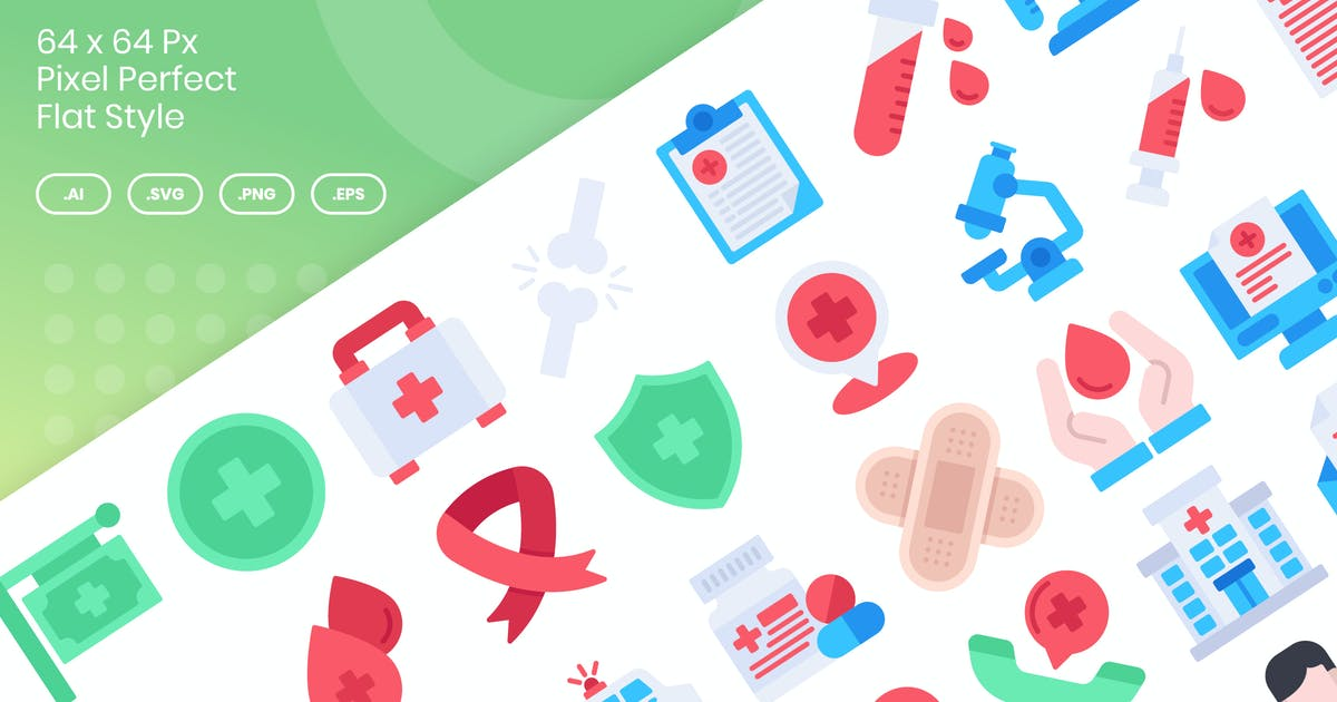 Download 40 Medical Icons Set - Flat by kmgdesignid