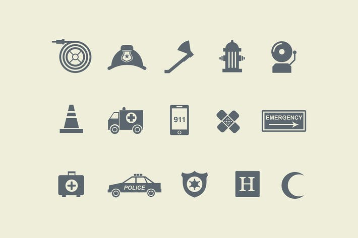 15 Emergency Icons