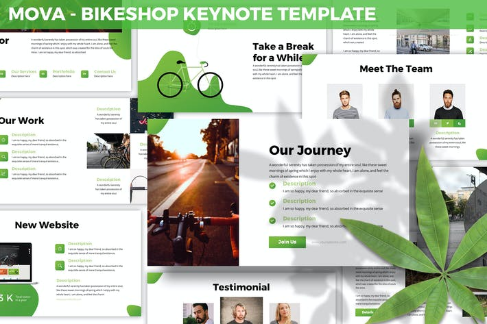 Thumbnail for Mova - Bikeshop Keynote Template