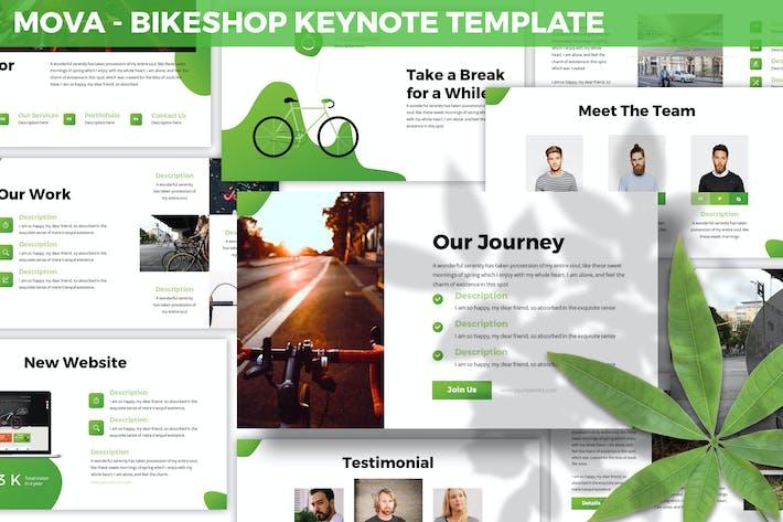 Thumbnail for Mova - Шаблон ключевых заKeynote Bikeshop