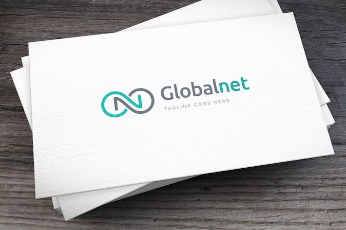 Thumbnail for Globalnet Letter N Logo Template