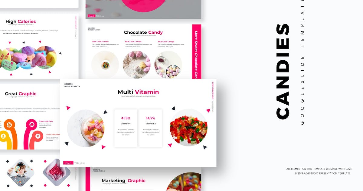 Download Candies - Google Slides Template by aqrstudio