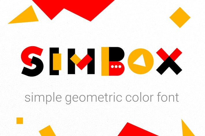 Thumbnail for Simbox| the color geometric font