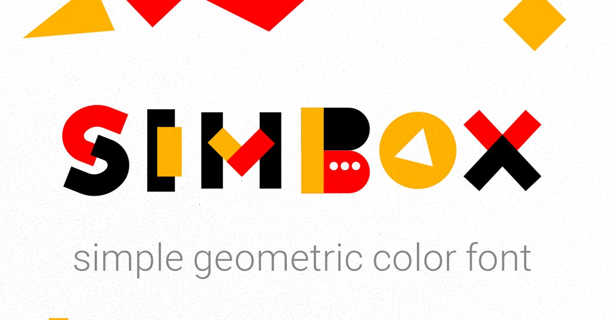 Download Simbox| the font with color elements by wowomnom