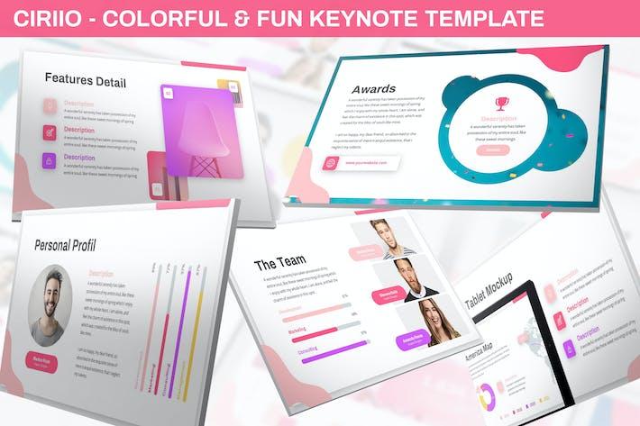 Thumbnail for Ciriio - Colorful & Fun Keynote Template
