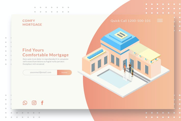 Thumbnail for Mortgage - Banner & Landing Page